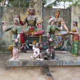 Μικρό παραδοσιακό aera της Ινδίας Pondicherry ναών Στοκ φωτογραφία με δικαίωμα ελεύθερης χρήσης
