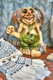 Μικρό πράσινο νορβηγικό troll Στοκ Φωτογραφία