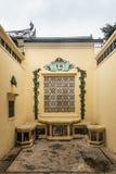 Μικρό ρομαντικό προαύλιο Tai Fu Tai στο προγονικό σπίτι, Χονγκ Κονγκ Κίνα στοκ εικόνες με δικαίωμα ελεύθερης χρήσης