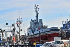 Μικρό ρυμουλκό σε ένα ναυπηγείο Στοκ φωτογραφίες με δικαίωμα ελεύθερης χρήσης