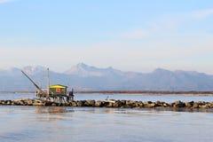 Μικρό σπίτι για να αλιεύσει Στοκ Φωτογραφίες