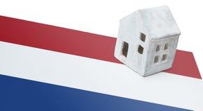Μικρό σπίτι σε μια σημαία - Κάτω Χώρες Στοκ Εικόνα