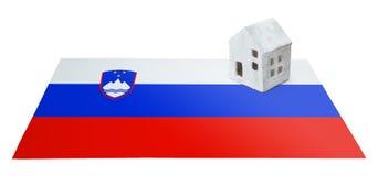 Μικρό σπίτι σε μια σημαία - Σλοβενία Στοκ Εικόνες