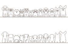 Μικρό σύνολο συνόρων σκυλιών διανυσματική απεικόνιση