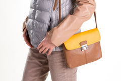 Μικρό τακτοποιημένο πορτοφόλι δέρματος Στοκ Φωτογραφία