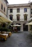 Μικρό τετράγωνο Lucca στο κέντρο της πόλης Στοκ Φωτογραφία
