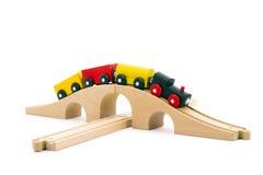 μικρό τραίνο παιχνιδιών παι&delt Στοκ Εικόνες