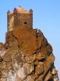 Μικρό φρούριο σε έναν lavic ακρωτήριο Στοκ εικόνα με δικαίωμα ελεύθερης χρήσης