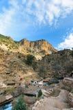 Μικρό χωριό κοντά στις πηγές δ ` Oum ER Rbia, Μαρόκο Στοκ Φωτογραφία