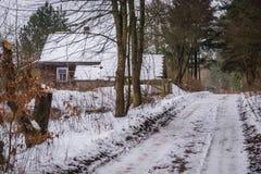 Μικρό χωριό στην περιοχή Podlasie Στοκ Φωτογραφία