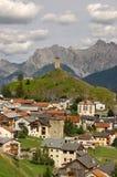 Μικρό χωριό Ardez σε Engadine Ελβετία Στοκ φωτογραφία με δικαίωμα ελεύθερης χρήσης