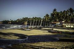 Μικρό ψαροχώρι στη βόρεια ακτή Potiguar στοκ φωτογραφία με δικαίωμα ελεύθερης χρήσης