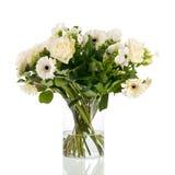 Μικτά άσπρα λουλούδια ανθοδεσμών Στοκ φωτογραφία με δικαίωμα ελεύθερης χρήσης