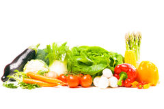 Μικτά λαχανικά στο λευκό στοκ εικόνες με δικαίωμα ελεύθερης χρήσης
