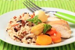 μικτά λαχανικά ρυζιού κοτό& Στοκ Φωτογραφίες