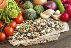 Μικτά όσπρια και λαχανικά Στοκ εικόνα με δικαίωμα ελεύθερης χρήσης