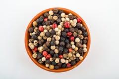 Μικτά peppercorns Στοκ Φωτογραφίες