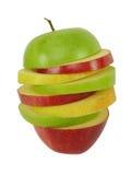 μικτές μήλο φέτες στοκ εικόνα