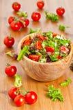 Μικτές σαλάτα και ντομάτες μαρουλιού Στοκ Φωτογραφίες