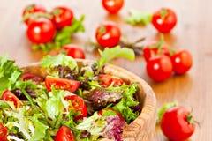 Μικτές σαλάτα και ντομάτες μαρουλιού Στοκ Εικόνες