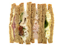 μικτή επιλογή σάντουιτς Στοκ Εικόνες