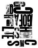 μικτή επιστολές ξυλογραφία Στοκ εικόνα με δικαίωμα ελεύθερης χρήσης