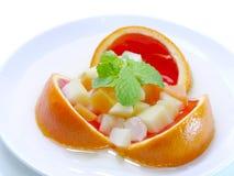 Μικτή πορτοκαλιά γεύση ζελατίνας φρούτων στοκ εικόνες