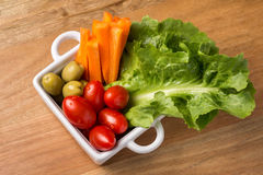 Μικτή σαλάτα λαχανικών Στοκ Εικόνες