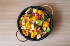 Μικτή σαλάτα πιπεριών άνωθεν Στοκ Φωτογραφία