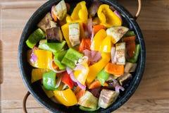 Μικτή σαλάτα πιπεριών άνωθεν Στοκ Εικόνες