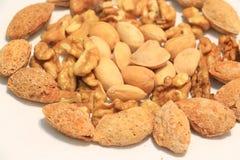 μικτή σειρά καρυδιών τροφίμων πλαίσια Στοκ εικόνες με δικαίωμα ελεύθερης χρήσης