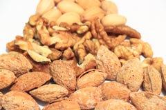 μικτή σειρά καρυδιών τροφίμων πλαίσια Στοκ Φωτογραφίες