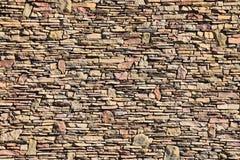 Μικτός πέτρινος τοίχος μεγέθους Στοκ εικόνες με δικαίωμα ελεύθερης χρήσης