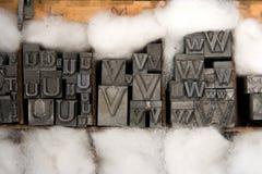 μικτός letterpress τύπος ομάδων δεδομένων Στοκ Εικόνες