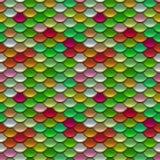 Μικτό άνευ ραφής σχέδιο κλιμάκων χρωμάτων Στοκ Φωτογραφία