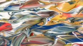 Μικτό ακρυλικό αφηρημένο υπόβαθρο χρωμάτων Στοκ Φωτογραφίες