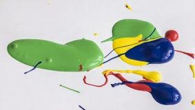 Μικτό ακρυλικό χρώμα Στοκ φωτογραφίες με δικαίωμα ελεύθερης χρήσης