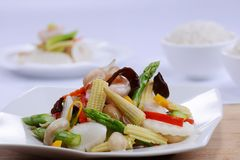 Μικτό λαχανικό με το μανιτάρι στοκ εικόνα