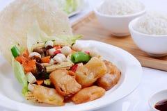Μικτό λαχανικό με tofu τα ψάρια στοκ φωτογραφία με δικαίωμα ελεύθερης χρήσης