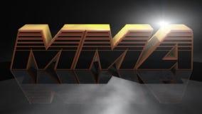 Μικτό σημάδι πολεμικών τεχνών MMA απεικόνιση αποθεμάτων