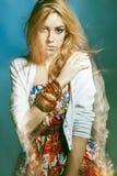 μικτό φως πορτρέτο μόδας Στοκ Εικόνα