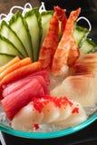 Μικτό sashimi, μεγάλο sashimi πιάτο Στοκ Φωτογραφία