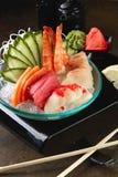 Μικτό sashimi, μεγάλο sashimi πιάτο Στοκ φωτογραφία με δικαίωμα ελεύθερης χρήσης