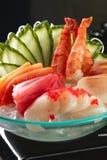 Μικτό sashimi, μεγάλο sashimi πιάτο Στοκ Εικόνες