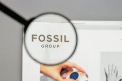 Μιλάνο, Ιταλία - 10 Αυγούστου 2017: Απολιθωμένο λογότυπο ομάδας στον ιστοχώρο Στοκ εικόνα με δικαίωμα ελεύθερης χρήσης