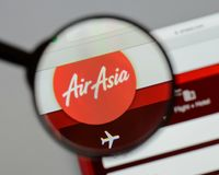 Μιλάνο, Ιταλία - 10 Αυγούστου 2017: Αρχική σελίδα ιστοχώρου της Ασίας αέρα Είναι Στοκ εικόνα με δικαίωμα ελεύθερης χρήσης