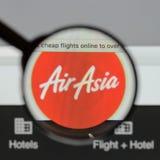Μιλάνο, Ιταλία - 10 Αυγούστου 2017: Αρχική σελίδα ιστοχώρου της Ασίας αέρα Είναι Στοκ φωτογραφία με δικαίωμα ελεύθερης χρήσης