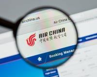 Μιλάνο, Ιταλία - 10 Αυγούστου 2017: Αρχική σελίδα ιστοχώρου της Air China Αυτό ι Στοκ φωτογραφία με δικαίωμα ελεύθερης χρήσης
