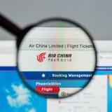 Μιλάνο, Ιταλία - 10 Αυγούστου 2017: Αρχική σελίδα ιστοχώρου της Air China Αυτό ι Στοκ εικόνες με δικαίωμα ελεύθερης χρήσης