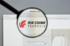 Μιλάνο, Ιταλία - 10 Αυγούστου 2017: Αρχική σελίδα ιστοχώρου της Air China Αυτό ι Στοκ Εικόνα